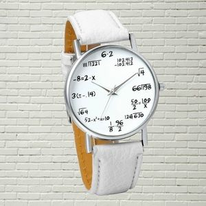 NEW Womens Quartz Math Fashion Wrist Watch